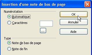Open office writer ins rer des notes en bas de page netzone83 - Pagination automatique open office ...