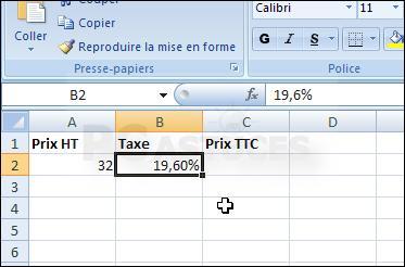 Open office calc calculer un prix ht ou ttc netzone83 - Comment faire un tableau sur open office calc ...