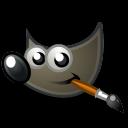 logo gimp fond noir