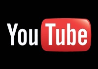 logo youtube fond noir